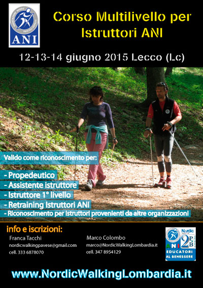 CORSO MULTILIVELLO PER ISTRUTTORE DI NORDIC WALKING ANI